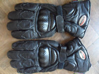 Mens Leather Motorcycle gloves. Buffalo XXL Very good condition little used - Pokesdown BH5 2AB