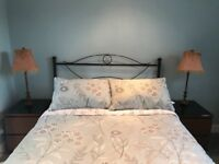 Bronze look headboard for standard double bed