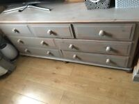 Solid pine chest of drawers (large )