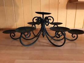 Black iron candle holder