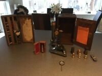 Antique R&J BECK Microscope with accesories for sale  Tiptree, Essex