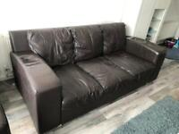 Dfs Leather Sofa on Sale / Good condition