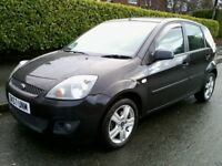Ford Fiesta 1.4 Zetec Climate 5 Door Black 2007 (57 Reg) Long MOT Just Serviced