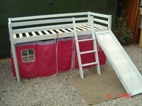 Thuka Trendy Three Foot Mid Sleeper Cabin Bed with a Ladder and Slide (and a Den). Can Deliver.