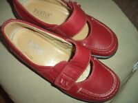 hotter t bar red shoes size 3 like new
