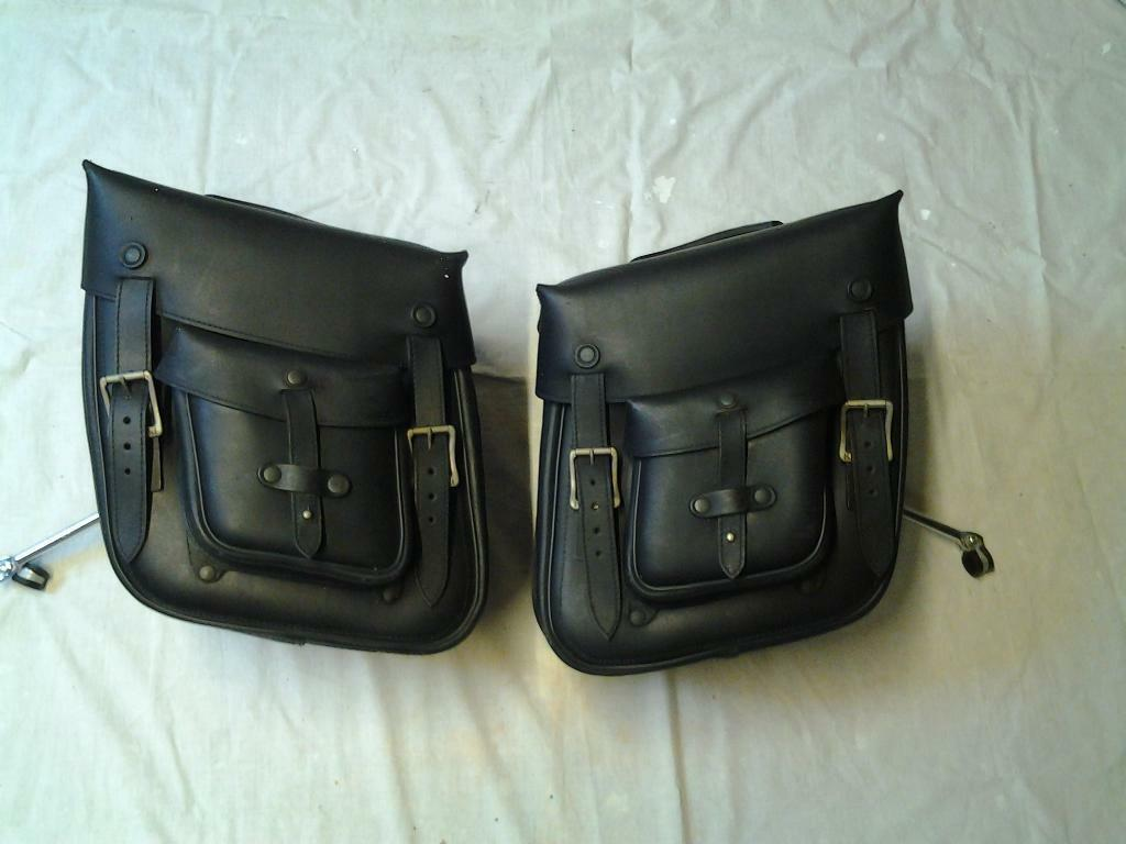 motorcycle accessories leather panniers