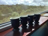 Blue teapot and 4 cups