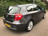 2007 bmw 120d m sport 3 door heated leather sensors 177bhp full service history moted 1 series 118d