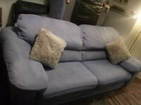3 seater sofa an matching chair an footstool