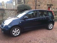 2007 NISSAN NOTE 1.4 5 DOOR LONG MOT SUPERB CONDITION GREAT FAMILY CAR PX SWAP
