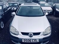 2006 VW GOLF 1.6 FSI*** SERVICE HISTORY***MOT 04/10/2018**SUNROOF*NEW TYRES*3 FORMER KEEPERS**2 Keys