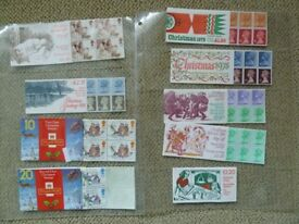 GB Mint Stamps Christmas booklets