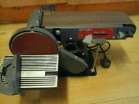 Belt sander with wheel sander