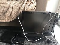 Small TV and DVD Player with lead
