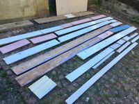 Skirting board - New, used, solid wood, MDF