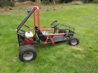 Wasp F500t off-road go-kart and F350 frame, instructions and components. Two karts for one!