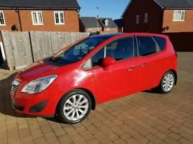 Vauxhall Meriva 2012 1.4 Ti red