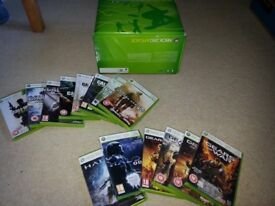 Xbox 360 Arcade - 256MB in box with 13 xbox games