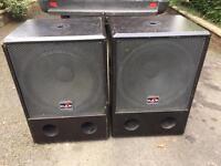 "DAS Bass Bins Speakers 18"" drivers 400 watts"