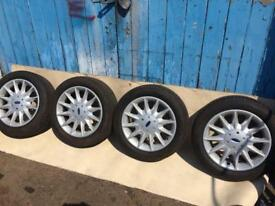 """Ford 16"""" Alloy wheels and Goodyear NCT 5 Tyres. Sierra,Mondeo,focus,etc"""