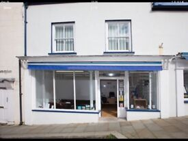 Spacious Retail Shop / Offices to let, Haverfordwest Ctown entre with free street parking available