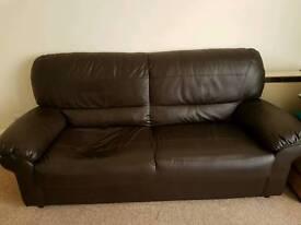 Free dark brown sofa