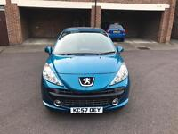 Peugeot 207 Blue 5 Door Hatchback Low Mileage HPI Clear Immaculate Condition