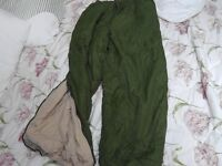 British army winter padded trousers