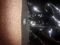 topshop pvc trousers