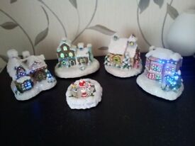 CHRISTMAS VILLAGE AND CAKE TOPPERS