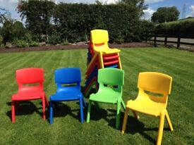Kids Plastic Chairs As New