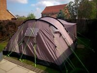 outwell collection nevada 5 man family tent like new! with free foot print carpet used only once