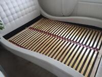 Double bed,white, faux leather
