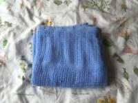 Baby cellular blanket blue.