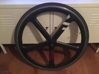 Encore 5 Spoke Track Wheel 700c black Matt BLB brick lane bikes Fixie Single Aerospoke