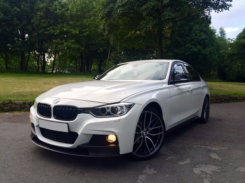 2012 62 bmw 318d 3 series m sport performance x drive f30 f31 auto white finance available in. Black Bedroom Furniture Sets. Home Design Ideas