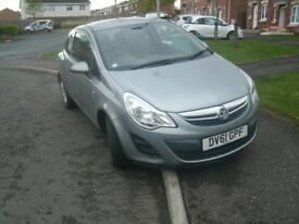 Vauxhall Corsa 1.2 Diesel, only 42,000 miles with spare tyre and 2 owners, £3,000 ONO
