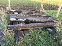 Reclaimed Wooden Railway Sleepers