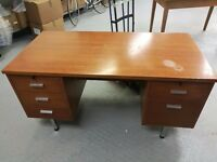 Desk with 7 drawers.