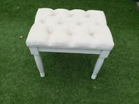 2 (TWO) Small upholstered stool
