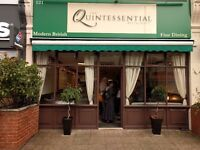 Full and Part-time Waiting staff Needed for the popular Quintessential Restaurant in Coulsdon CR52NG