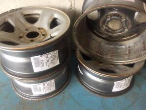 17x7 5x139.7 Silver 5 Spoke Steel Wheels