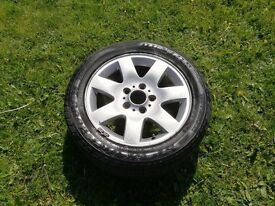 """BMW 3 SERIES E46 16"""" ALLOY WHEEL AND TYRE"""
