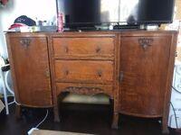 Vintage Antique Sideboard wooden Dresser wardrobe chest MUST COLLECT DEC 15 or 16