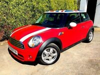 **..£20 TAX..** 2009 MINI CHILLI COOPER D RED 1.6 TURBO DIESEL 3 DOOR HATCH WHITE