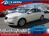 2012 Buick Regal Comfort Pkg.toit bluetooth 4 cyl
