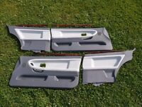 BMW E36 coupe door cards | Rare wood trim | Grey Leather