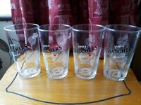 4 THATCHERS GOLD GLASSES