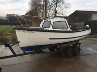 15FT DISPLACEMENT HULL FISHING RIVER SEA CUDDY BOAT WITH TRAILER