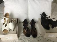 3 pairs of Ladies fyna dance shoes